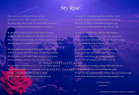 My Rose - Poem & Art Print by Joseph James