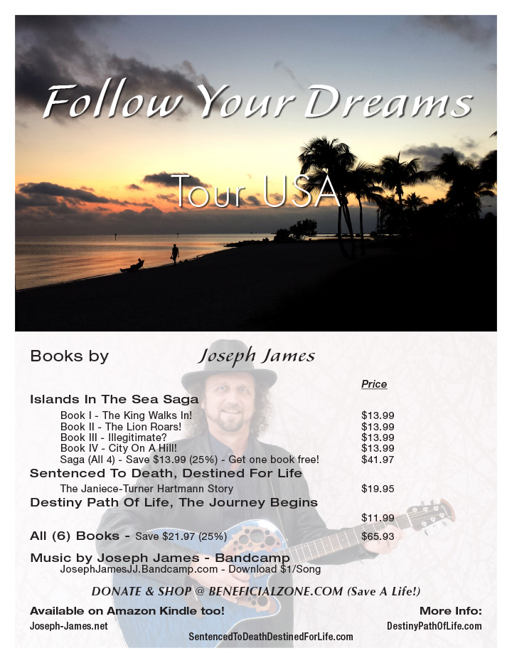 Follow Your Dreams Tour - Books by Joseph James