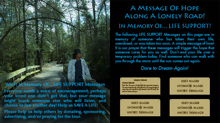 In Memory Of - Life Support Messages - Cancel Suicide