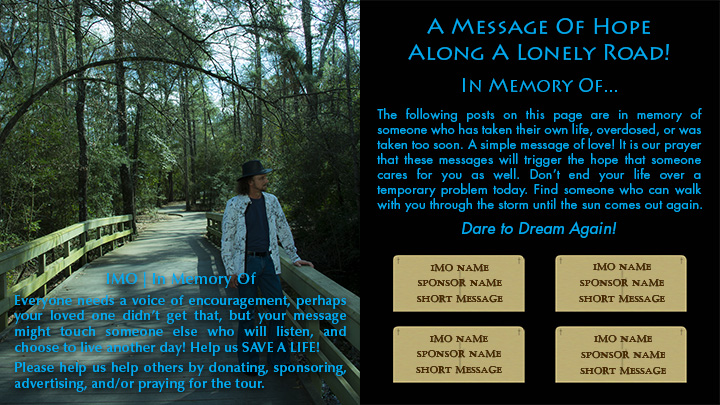 In Memory Of Page - Life Support Messages - Joseph James