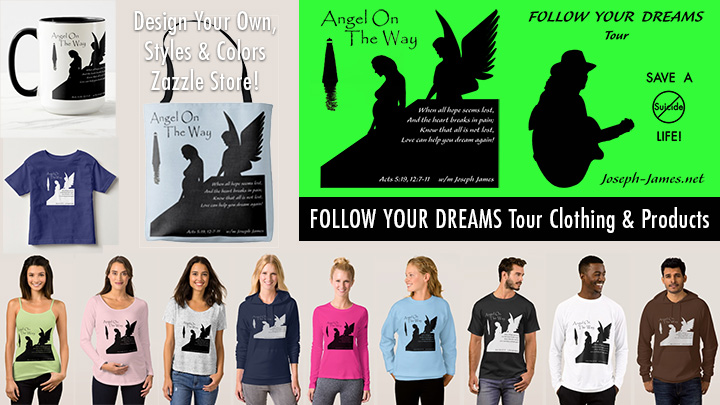 Follow Your Dreams Tour - Shirt Design by Joseph James