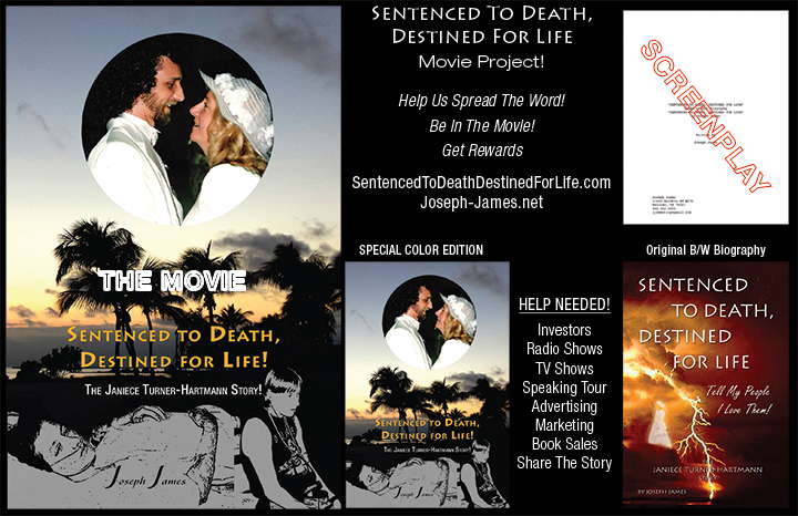 Sentenced To Death Destined For Life Color Book and Movie Announcement Joseph James